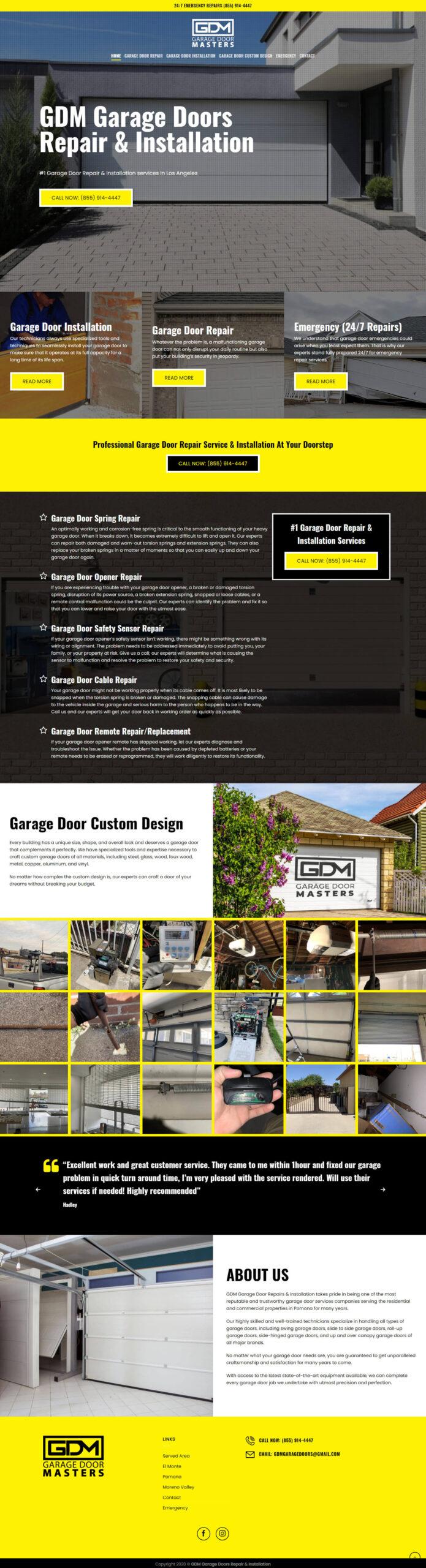 GDM Garage Doors Repair & Installation
